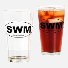 SWM - Single White Male Drinking Glass