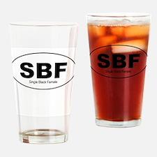 SBF - Single Black Female Drinking Glass