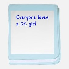 Everyone loves a DC girl baby blanket