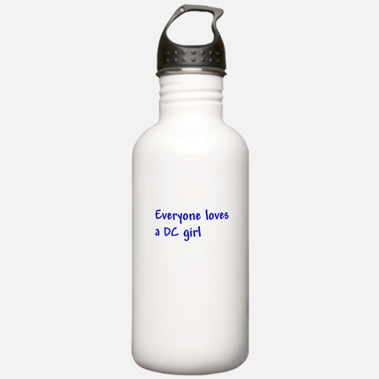 Everyone loves a DC girl Water Bottle