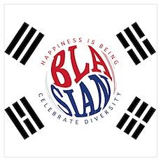 Blasians Taegeuk Flag 1 Poster