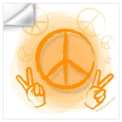 Peace Symbol & V-Sign Color Wall Decal