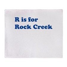 R is for Rock Creek Throw Blanket
