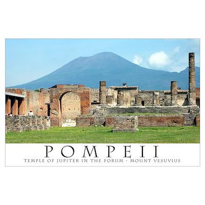 Forum in Pompeii Poster