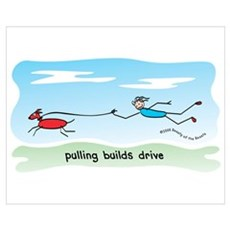 Pulling Builds Drive Canvas Art