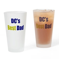 DC's Best Dad Drinking Glass