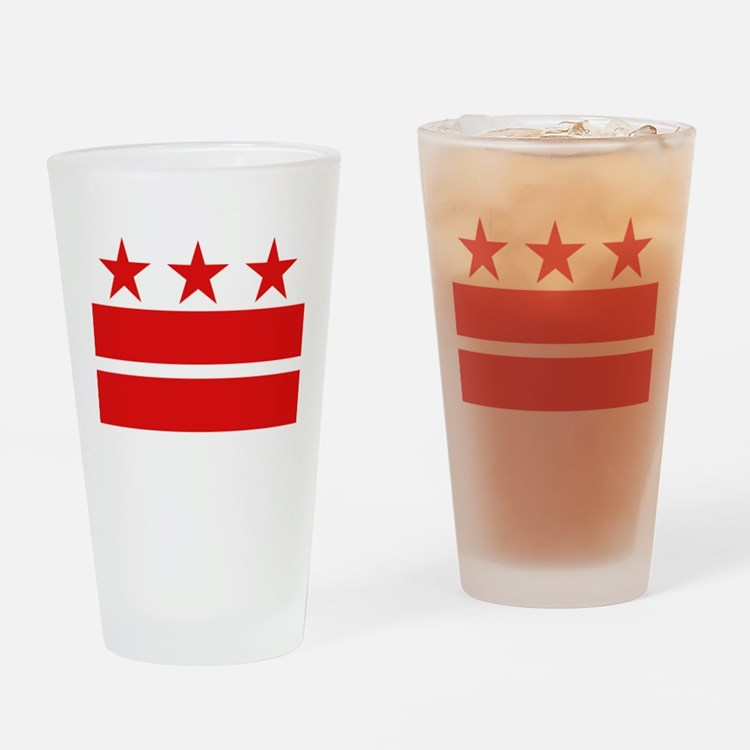 Three Stars and Two Bars Drinking Glass