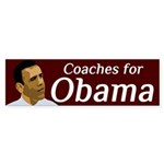 Coaches for Obama bumper sticker