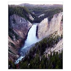 Lower Falls Yellowstone NP Poster