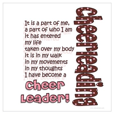 Become a Cheerleader Poster