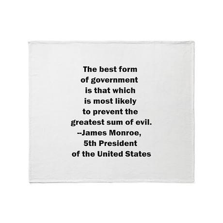 James Monroe Quotation Throw Blanket