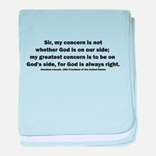 Abraham Lincoln Quote baby blanket