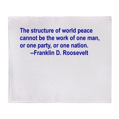 FDR on Peace Throw Blanket