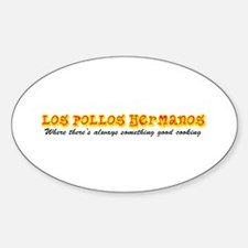 'Los Pollos Hermanos' Sticker (Oval)