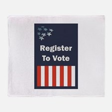 Register to Vote Throw Blanket