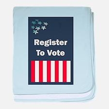 Register To Vote baby blanket