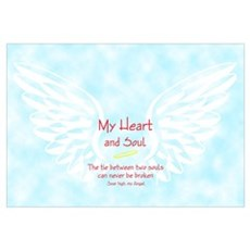 Wings and loving sentiment Framed Print