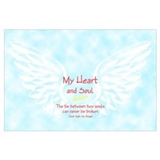 Wings and loving sentiment Poster