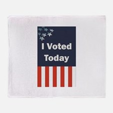 I Voted Today Throw Blanket