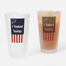 I Voted Today Drinking Glass