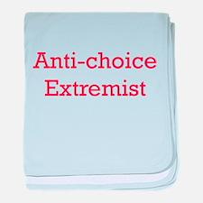 Anti-Choice Extremist baby blanket