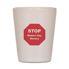 STOP Modern Day Slavery Shot Glass
