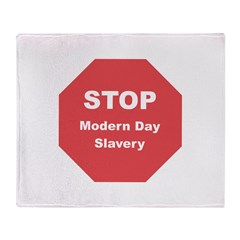 STOP Modern Day Slavery Throw Blanket