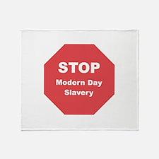 STOP Modern Day Slavery Throw Blanket