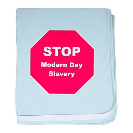 STOP Modern Day Slavery baby blanket