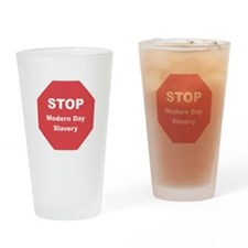 STOP Modern Day Slavery Drinking Glass