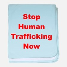 Stop Human Trafficking Now baby blanket