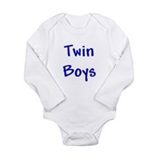 Twin Boys Long Sleeve Infant Bodysuit