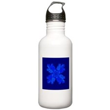 Blue Flower Fractal Water Bottle