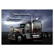 Truckers Framed Print