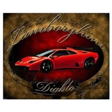 Red Lamborghini Diablo Canvas Art