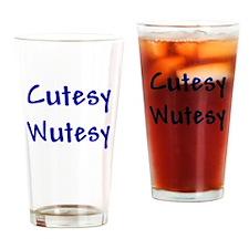 Cutesy Wutesy Drinking Glass