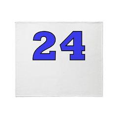 Twenty-four Throw Blanket