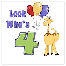 Fourth Birthday Poster