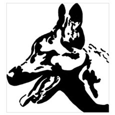Malinois Silhouette Canvas Art