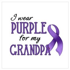 Wear Purple - Grandpa Poster