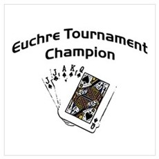 Euchre Tournament Poster