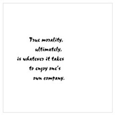 """True Morality"" Framed Print"