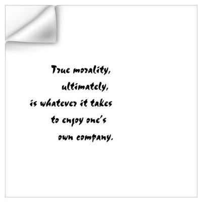 """True Morality"" Wall Decal"