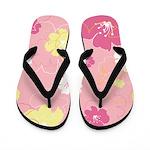 Pink Florals Flip Flops