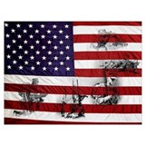 American flag and eagle Framed Prints