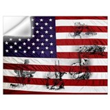 American flag and eagle Wall Decals