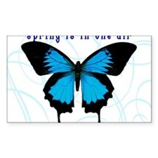 Spring Is In The Air Rectangle Decal