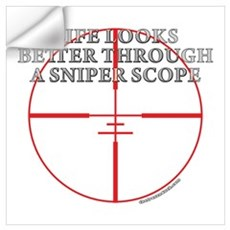 Life Through a Sniper Scope Wall Decal
