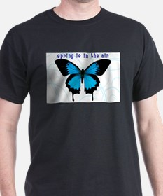Spring Is In The Air Black T-Shirt