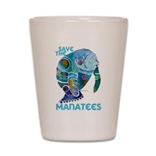 Save the Manatees Shot Glass